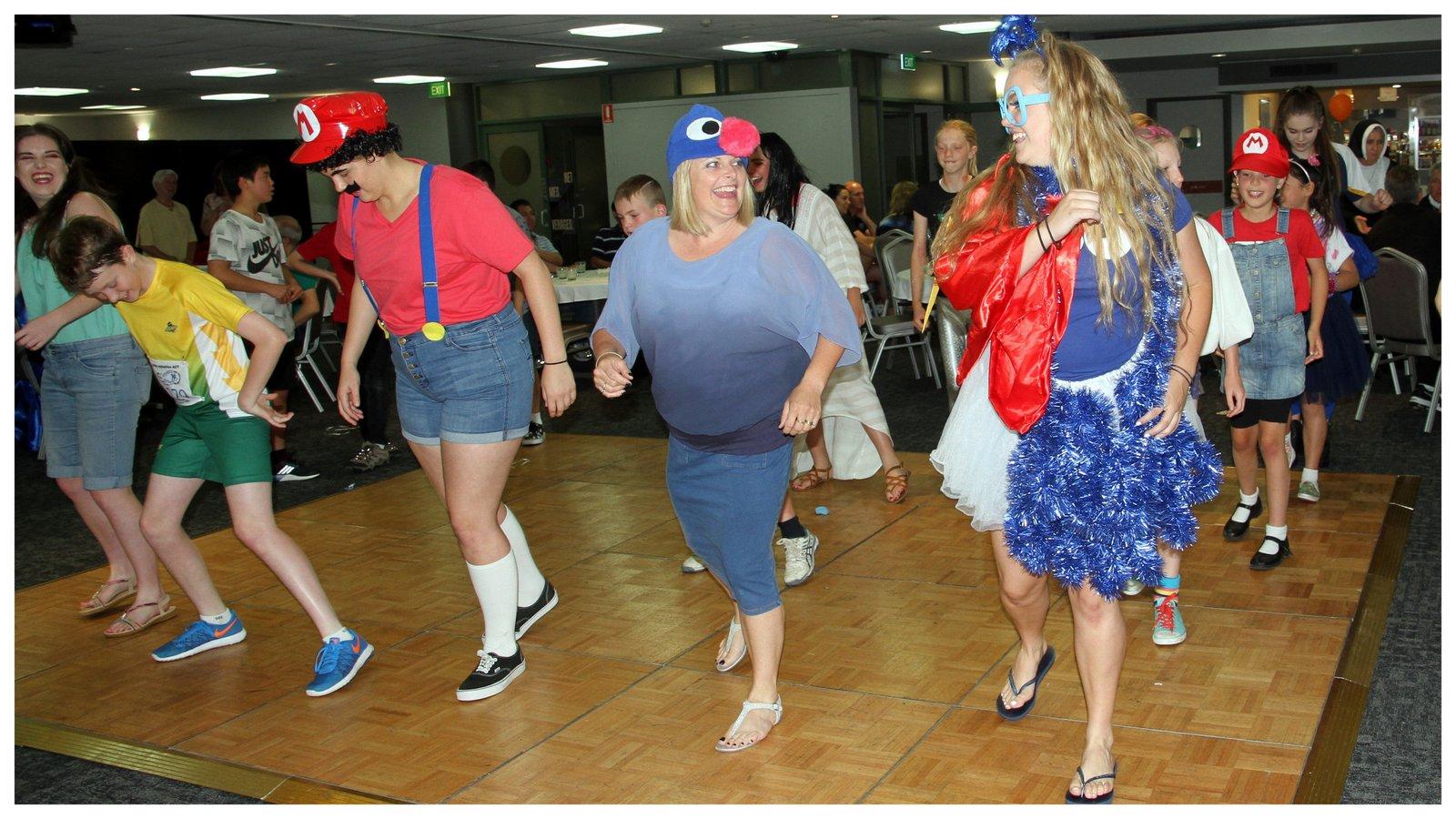 Dancing and having fun!